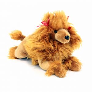 Bocchetta-Juliet Brown lying poodle puppy Stuffed Animal Soft Plush Toy