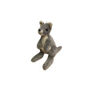 Bocchetta-Mini Grey Kangaroo Stuffed Animal Soft Plush Toy