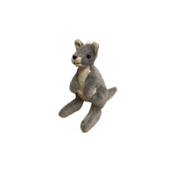 Bocchetta-Mini Grey Kangaroo Stuffed Animal Soft Plush Toy