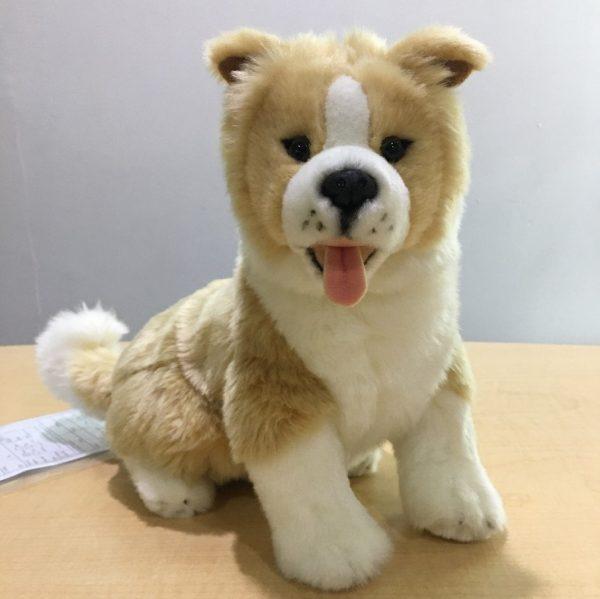 Yellow Tan border collie puppy plush toy
